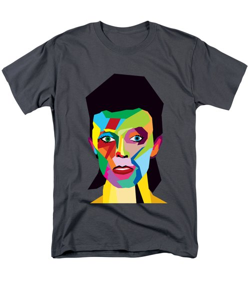 David Bowie Men's T-Shirt  (Regular Fit) by Mark Ashkenazi