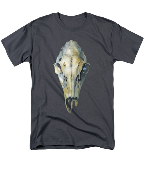 Deer Skull With Aura Men's T-Shirt  (Regular Fit) by Catherine Twomey
