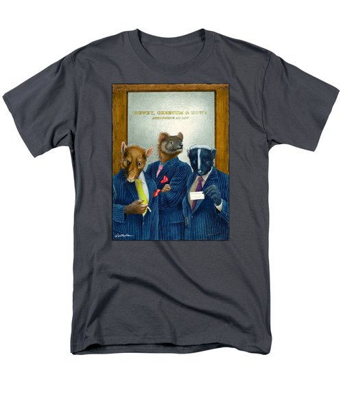 Dewey, Cheetum And Howe... Men's T-Shirt  (Regular Fit) by Will Bullas