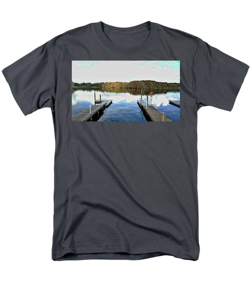 Men's T-Shirt  (Regular Fit) featuring the photograph Dock Of The Bay by Michael Albright