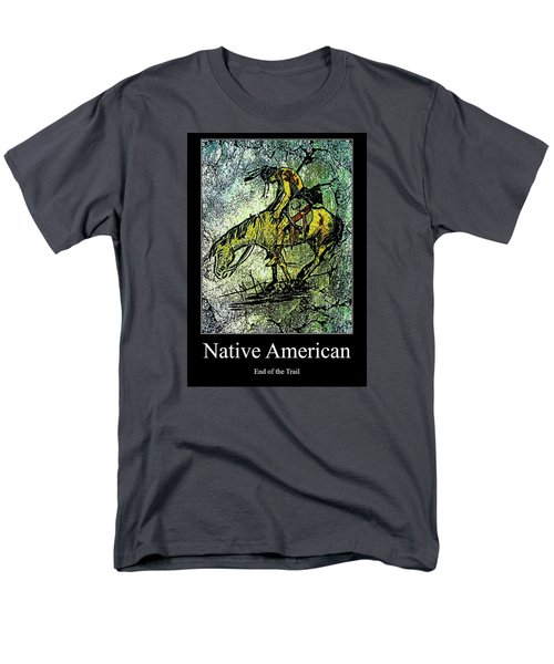 Men's T-Shirt  (Regular Fit) featuring the digital art End Of The Trail 1 by Ayasha Loya