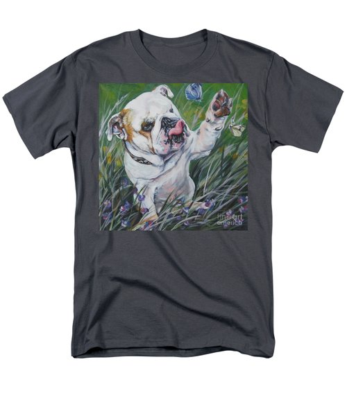English Bulldog Men's T-Shirt  (Regular Fit) by Lee Ann Shepard