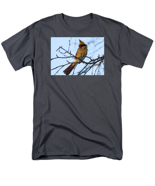 Men's T-Shirt  (Regular Fit) featuring the photograph Female Northern Cardinal by Ricky L Jones