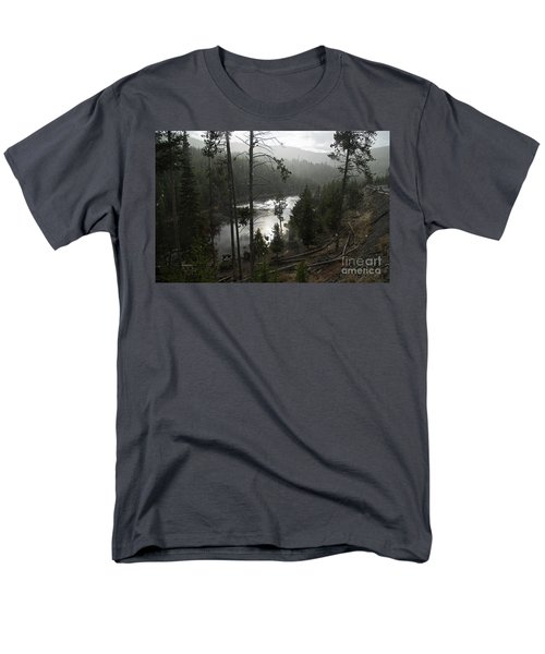 Firehole River In Yellowstone Men's T-Shirt  (Regular Fit) by Cindy Murphy - NightVisions