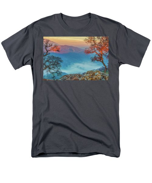 Fog In The Valley Men's T-Shirt  (Regular Fit) by Marc Crumpler