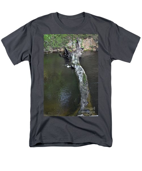 Men's T-Shirt  (Regular Fit) featuring the photograph Footbridge by Skip Willits