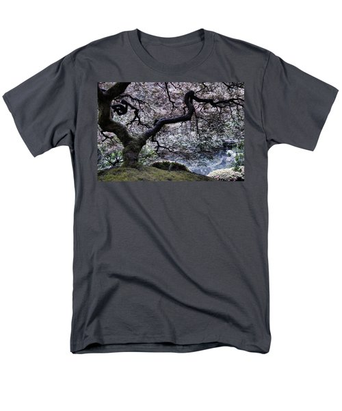 Garden View In Blue Men's T-Shirt  (Regular Fit) by Don Schwartz