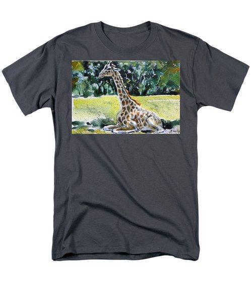 Men's T-Shirt  (Regular Fit) featuring the painting Giraffe by Kovacs Anna Brigitta