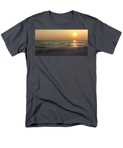 Golden Setting Sun Men's T-Shirt  (Regular Fit) by Angela Rath