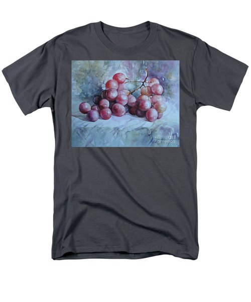 Men's T-Shirt  (Regular Fit) featuring the painting Grapes... by Elena Oleniuc