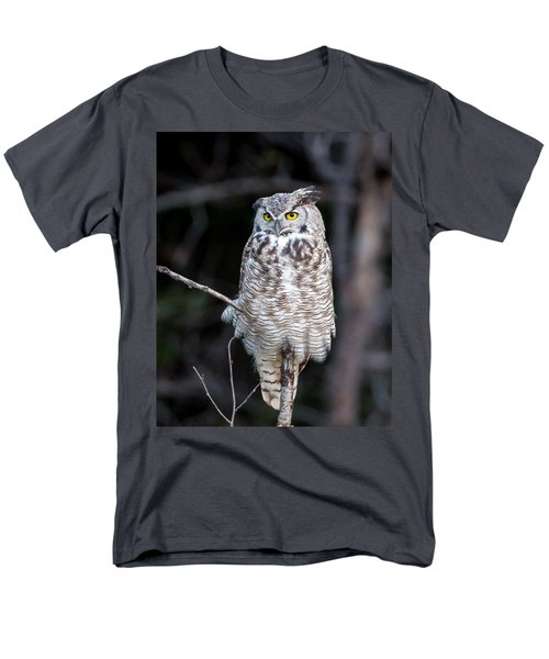 Great Horned Owl  Men's T-Shirt  (Regular Fit) by Jack Bell