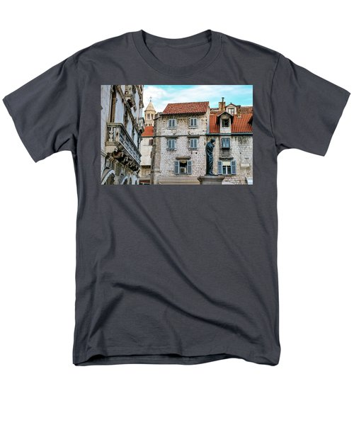 Houses And Cathedral Of Saint Domnius, Dujam, Duje, Bell Tower Old Town, Split, Croatia Men's T-Shirt  (Regular Fit) by Elenarts - Elena Duvernay photo