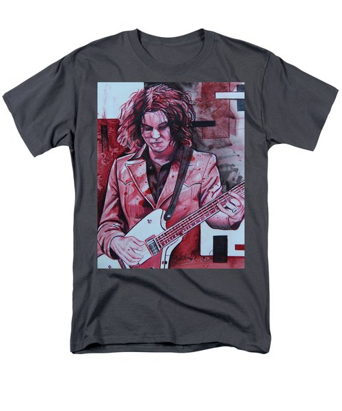 Men's T-Shirt  (Regular Fit) featuring the drawing Jack White by Joshua Morton