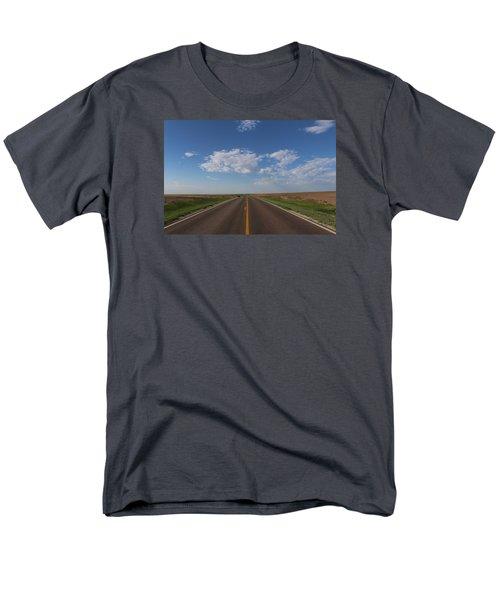 Kansas Road Men's T-Shirt  (Regular Fit) by Suzanne Lorenz