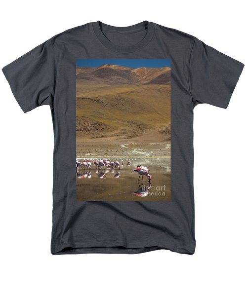 Men's T-Shirt  (Regular Fit) featuring the photograph Laguna Colorada, Andes, Bolivia by Gabor Pozsgai
