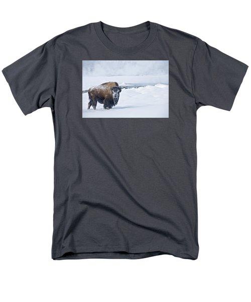 Lone Bison Men's T-Shirt  (Regular Fit) by Gary Lengyel