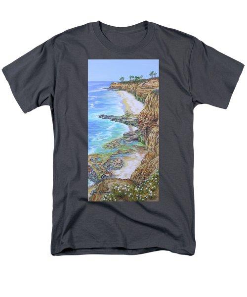 Low Tide Sunset Cliffs Men's T-Shirt  (Regular Fit)