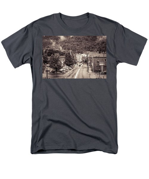 Men's T-Shirt  (Regular Fit) featuring the photograph Main Street Webster Springs by Thomas R Fletcher