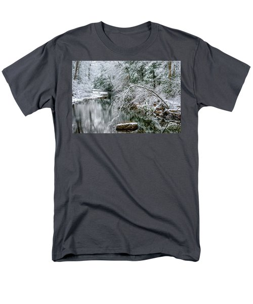 Men's T-Shirt  (Regular Fit) featuring the photograph March Snow Cranberry River by Thomas R Fletcher