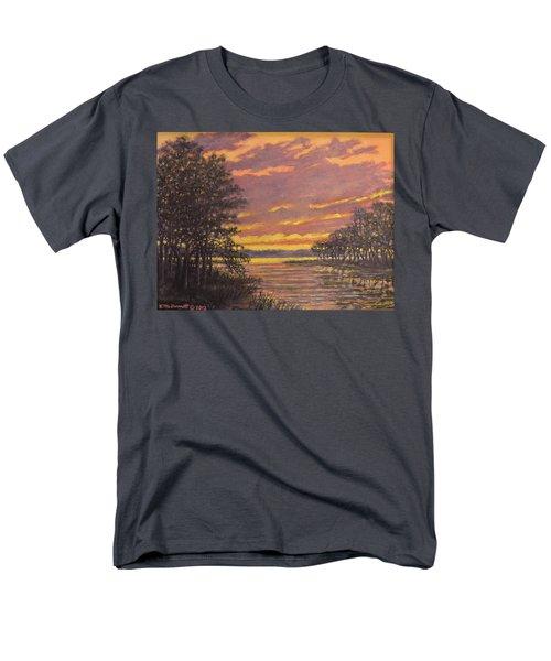 Men's T-Shirt  (Regular Fit) featuring the painting Marsh Sketch # 7 by Kathleen McDermott