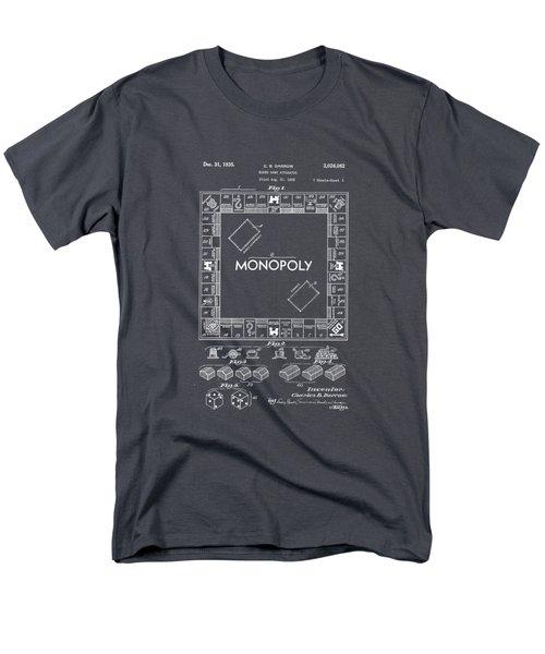Monopoly Original Patent Art Drawing T-shirt Men's T-Shirt  (Regular Fit) by Edward Fielding