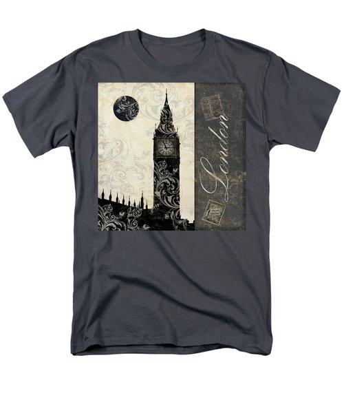 Moon Over London Men's T-Shirt  (Regular Fit) by Mindy Sommers