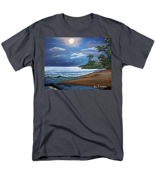 Moonlight In Rincon II Men's T-Shirt  (Regular Fit) by Luis F Rodriguez