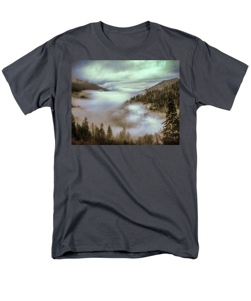 Men's T-Shirt  (Regular Fit) featuring the photograph Morning Mountains II by Rebecca Hiatt