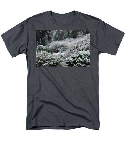 Morning Snow In The Garden Men's T-Shirt  (Regular Fit) by Don Schwartz