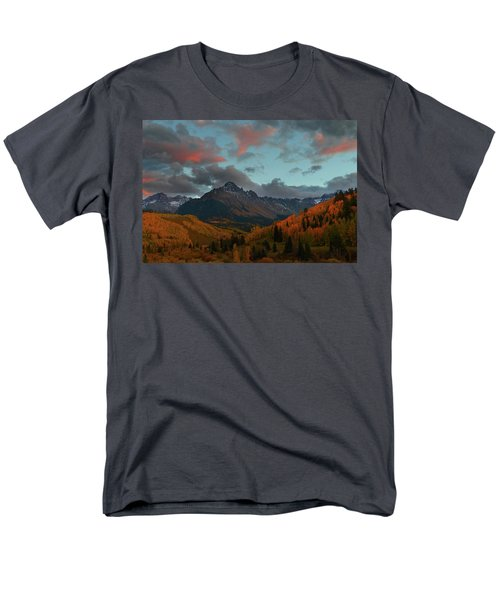 Men's T-Shirt  (Regular Fit) featuring the photograph Mount Sneffels Sunset During Autumn In Colorado by Jetson Nguyen