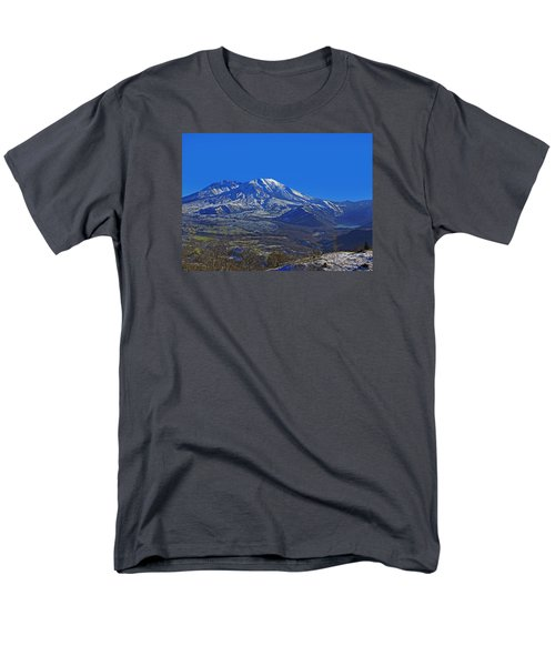 Mt St Helens Men's T-Shirt  (Regular Fit) by Jack Moskovita