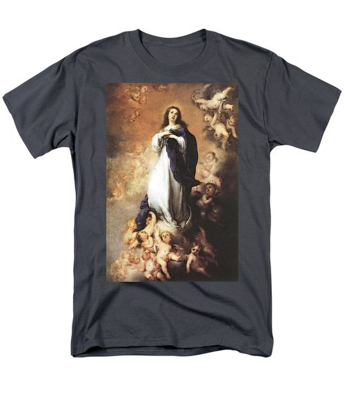 Murillo Immaculate Conception  Men's T-Shirt  (Regular Fit) by Bartolome Esteban Murillo