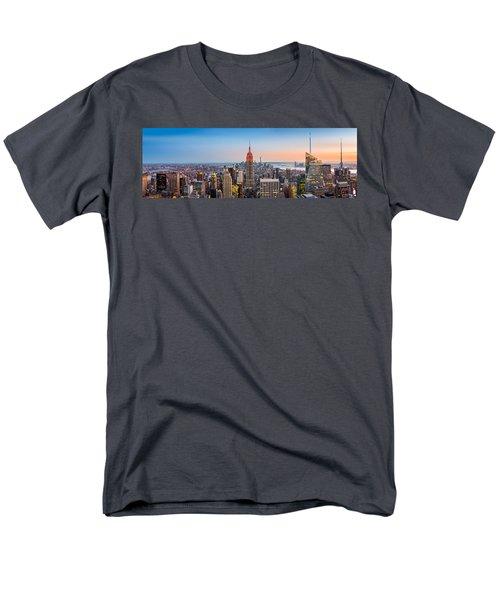 New York Skyline Panorama Men's T-Shirt  (Regular Fit) by Mihai Andritoiu