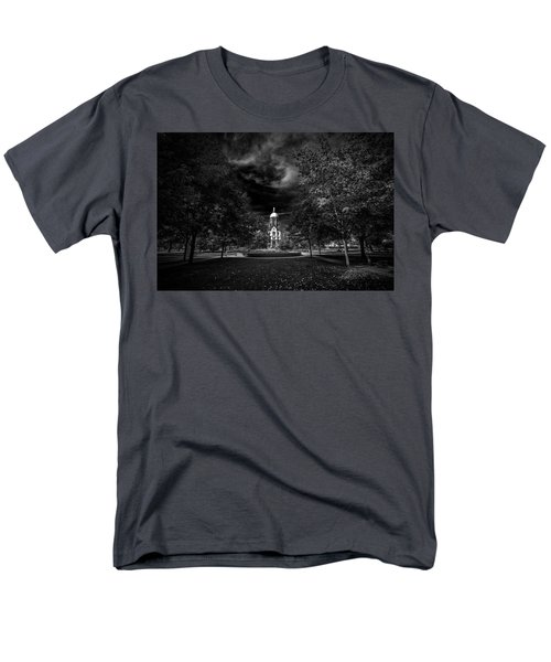 Men's T-Shirt  (Regular Fit) featuring the photograph Notre Dame University Black White by David Haskett
