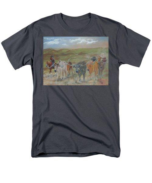 On The Chisholm Trail Men's T-Shirt  (Regular Fit)