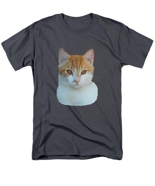 Orange And White Cat Men's T-Shirt  (Regular Fit) by Pamela Walton