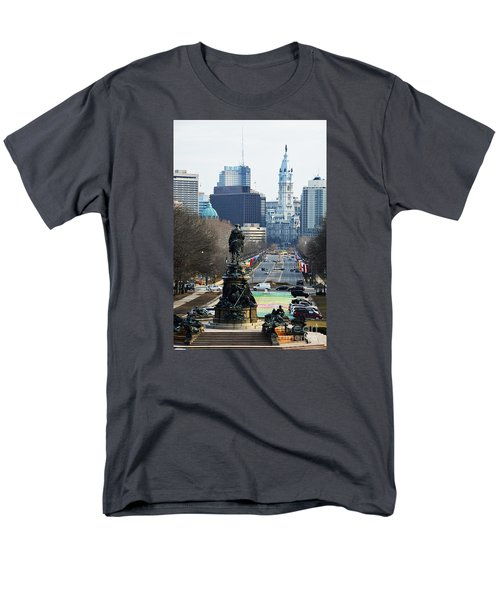 Philadelphia - The Parkway Men's T-Shirt  (Regular Fit) by Cindy Manero