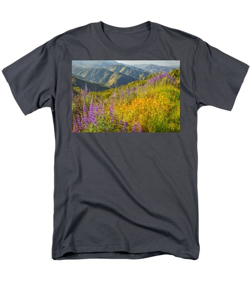 Poppies And Lupine Men's T-Shirt  (Regular Fit) by Marc Crumpler