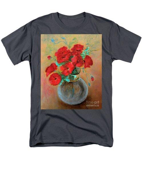 Poppies  Men's T-Shirt  (Regular Fit) by Jasna Dragun