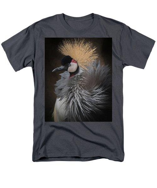 Men's T-Shirt  (Regular Fit) featuring the digital art Portrait Of A Crowned Crane by Ernie Echols