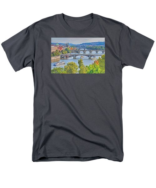Men's T-Shirt  (Regular Fit) featuring the photograph Prague Bridges by Dennis Cox WorldViews