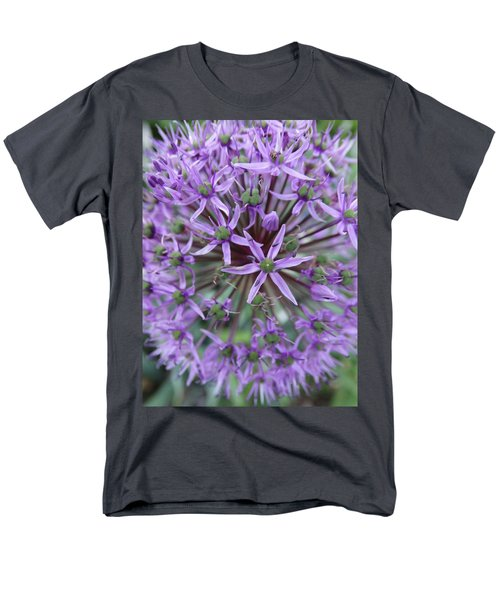 Purple Allium Burst Men's T-Shirt  (Regular Fit) by Rebecca Overton