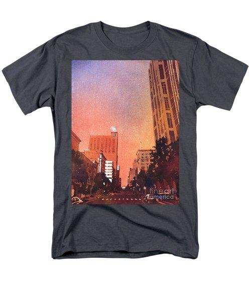 Raleigh Downtown Men's T-Shirt  (Regular Fit) by Ryan Fox