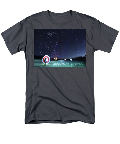 Real Golfers Even Golf At Night Men's T-Shirt  (Regular Fit) by Andrew Nourse