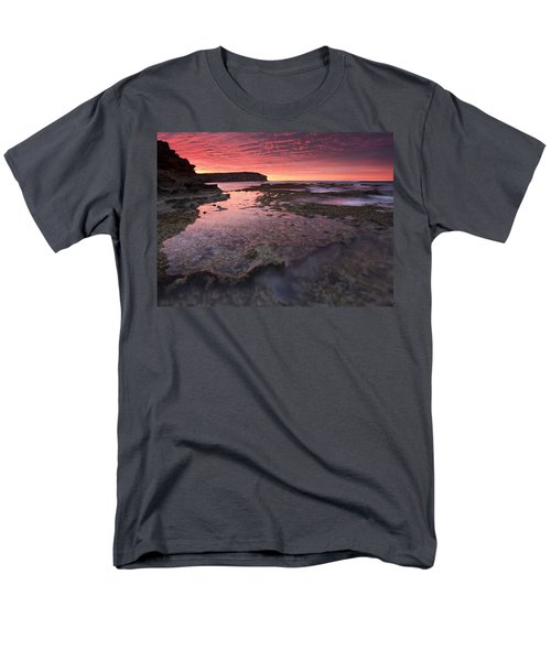 Red Sky At Morning Men's T-Shirt  (Regular Fit) by Mike  Dawson