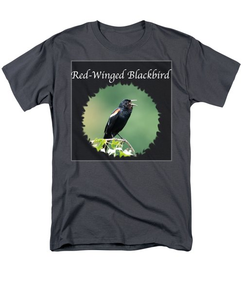 Red-winged Blackbird Men's T-Shirt  (Regular Fit) by Jan M Holden