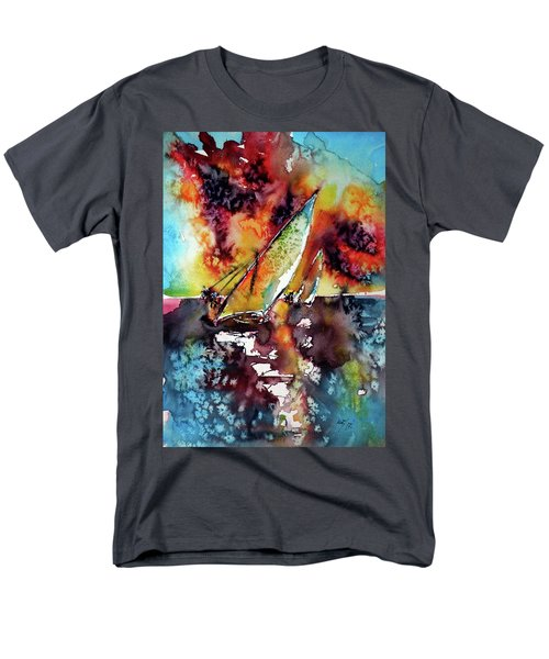 Sailboats At The Sunshine Men's T-Shirt  (Regular Fit) by Kovacs Anna Brigitta
