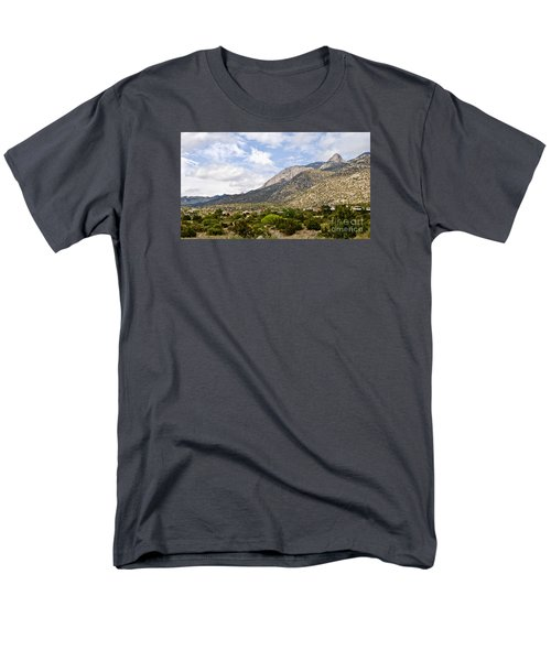 Men's T-Shirt  (Regular Fit) featuring the photograph Sandia Mountains by Gina Savage