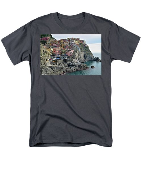 Men's T-Shirt  (Regular Fit) featuring the photograph Seaside Village by Frozen in Time Fine Art Photography