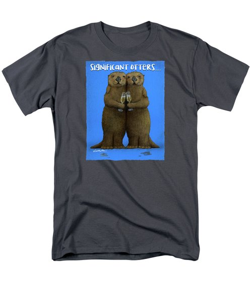 Significant Otters... Men's T-Shirt  (Regular Fit) by Will Bullas